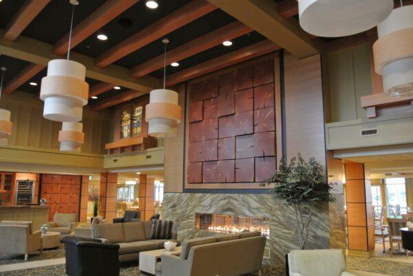 fir beam wall art