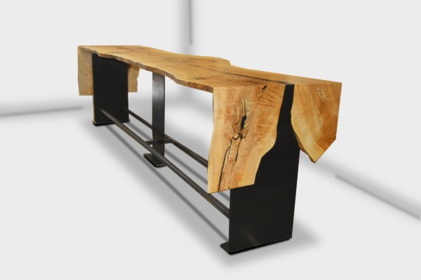 Live Edge mitred communal bar table