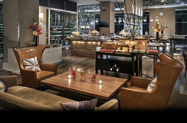 Coffee tables tops at JW Marriott restaurant