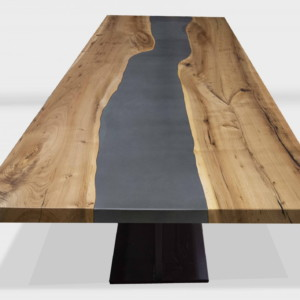 steel river table