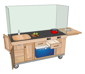rolling chef cart